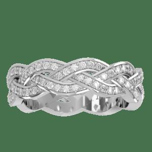 Wedding Band 8 – White Gold