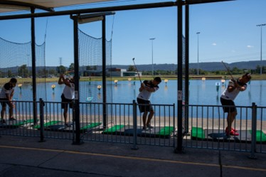 Knock Out a Bucket of Balls at Aqua Golf