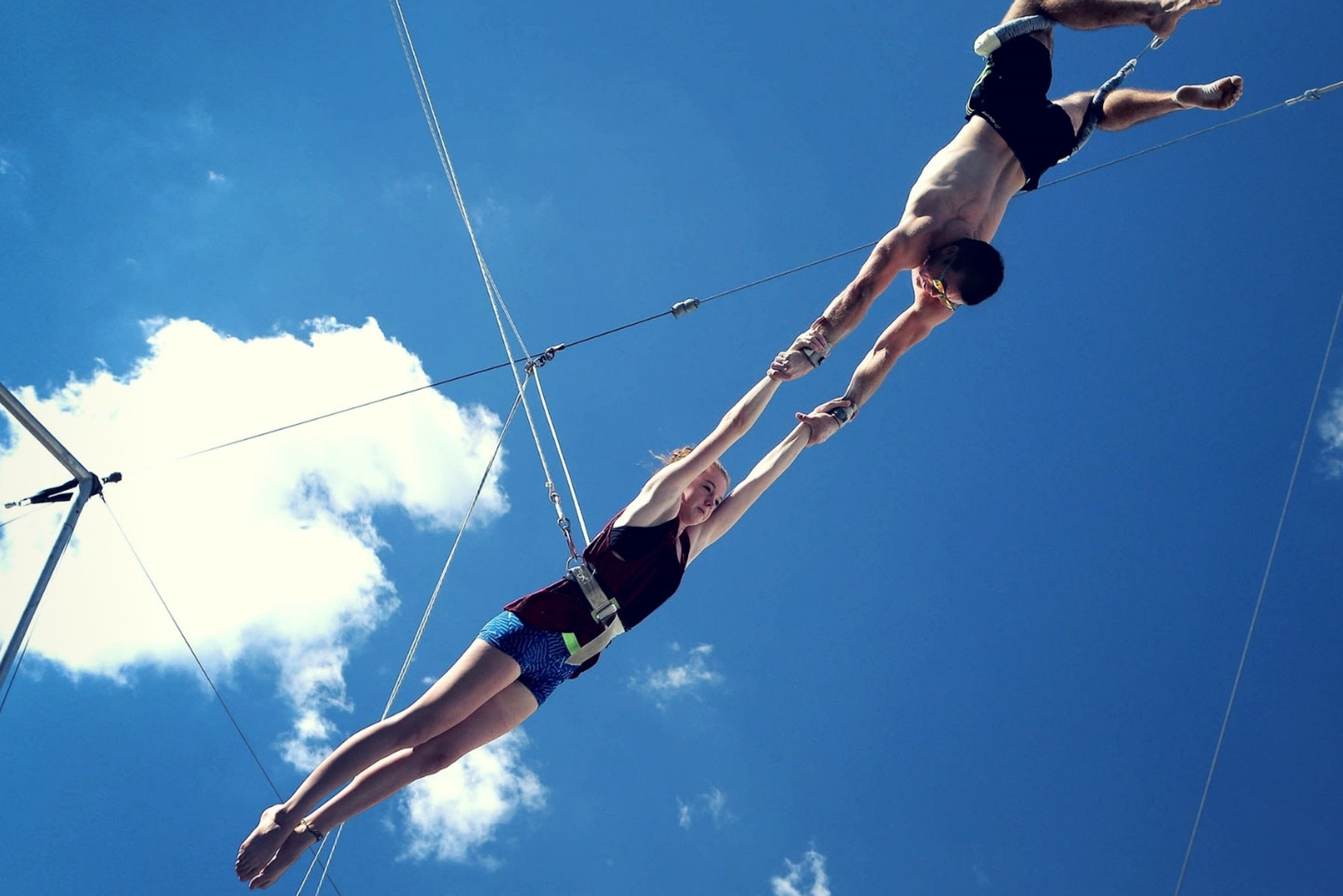 Demonstrate Your Trust With a Trapeze Class