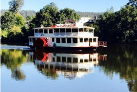 Relax on the Nepean River in a Paddlewheeler